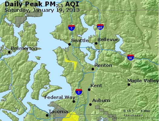 Peak Particles PM<sub>2.5</sub> (24-hour) - http://files.airnowtech.org/airnow/2013/20130119/peak_pm25_seattle_wa.jpg