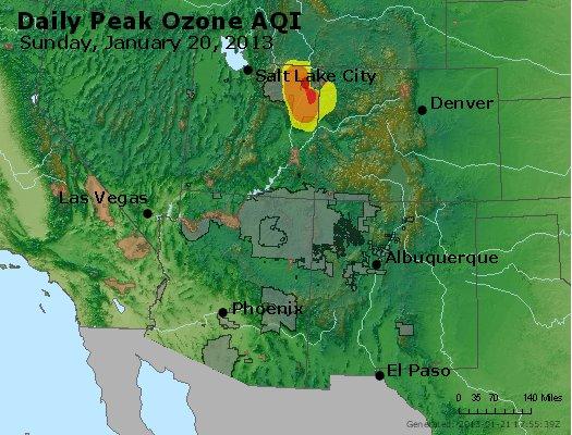 Peak Ozone (8-hour) - http://files.airnowtech.org/airnow/2013/20130120/peak_o3_co_ut_az_nm.jpg