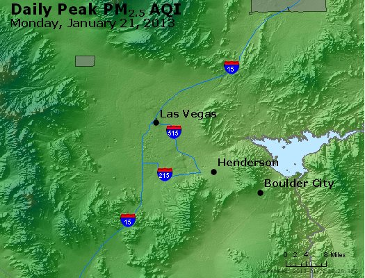 Peak Particles PM<sub>2.5</sub> (24-hour) - http://files.airnowtech.org/airnow/2013/20130121/peak_pm25_lasvegas_nv.jpg