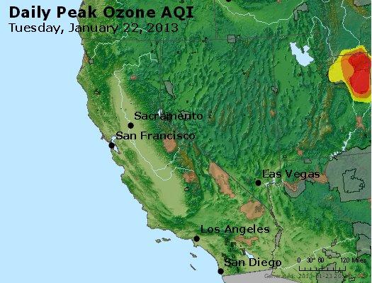 Peak Ozone (8-hour) - http://files.airnowtech.org/airnow/2013/20130122/peak_o3_ca_nv.jpg