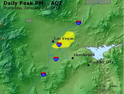 Peak Particles PM<sub>2.5</sub> (24-hour) - http://files.airnowtech.org/airnow/2013/20130122/peak_pm25_lasvegas_nv.jpg
