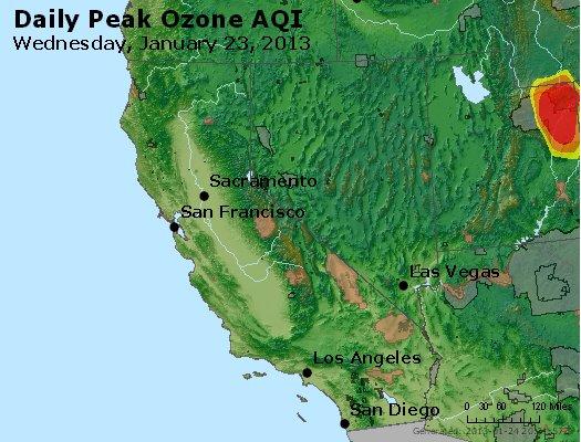 Peak Ozone (8-hour) - http://files.airnowtech.org/airnow/2013/20130123/peak_o3_ca_nv.jpg