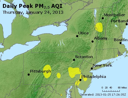 Peak Particles PM<sub>2.5</sub> (24-hour) - http://files.airnowtech.org/airnow/2013/20130124/peak_pm25_ny_pa_nj.jpg