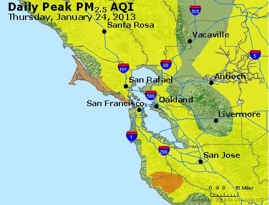 Peak Particles PM<sub>2.5</sub> (24-hour) - http://files.airnowtech.org/airnow/2013/20130124/peak_pm25_sanfrancisco_ca.jpg