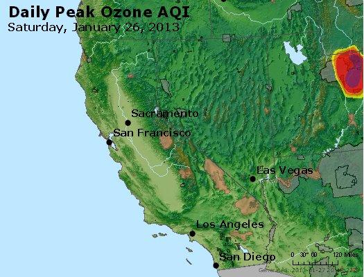 Peak Ozone (8-hour) - http://files.airnowtech.org/airnow/2013/20130126/peak_o3_ca_nv.jpg
