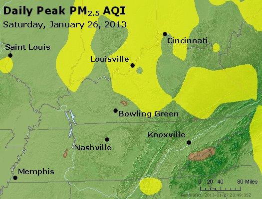 Peak Particles PM<sub>2.5</sub> (24-hour) - http://files.airnowtech.org/airnow/2013/20130126/peak_pm25_ky_tn.jpg