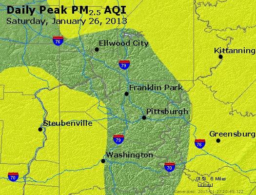 Peak Particles PM<sub>2.5</sub> (24-hour) - http://files.airnowtech.org/airnow/2013/20130126/peak_pm25_pittsburgh_pa.jpg
