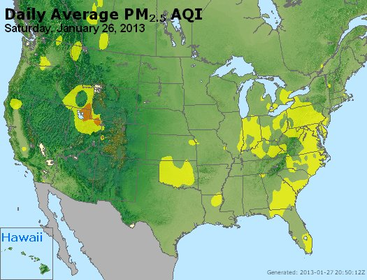 Peak Particles PM<sub>2.5</sub> (24-hour) - http://files.airnowtech.org/airnow/2013/20130126/peak_pm25_usa.jpg