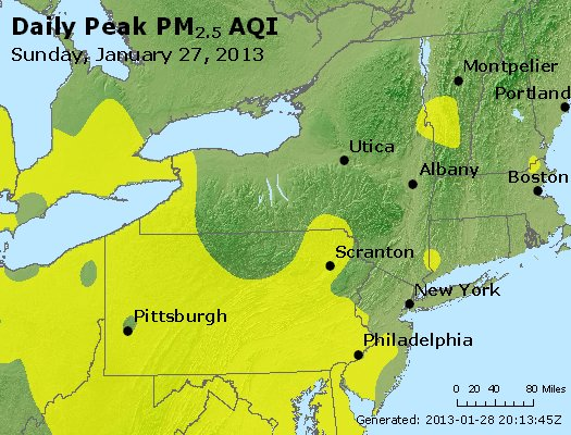 Peak Particles PM<sub>2.5</sub> (24-hour) - http://files.airnowtech.org/airnow/2013/20130127/peak_pm25_ny_pa_nj.jpg