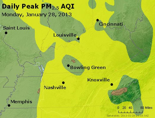 Peak Particles PM<sub>2.5</sub> (24-hour) - http://files.airnowtech.org/airnow/2013/20130128/peak_pm25_ky_tn.jpg