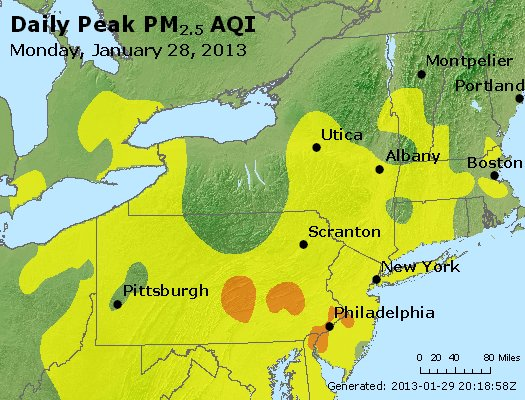 Peak Particles PM<sub>2.5</sub> (24-hour) - http://files.airnowtech.org/airnow/2013/20130128/peak_pm25_ny_pa_nj.jpg