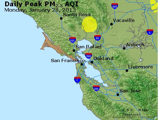 Peak Particles PM<sub>2.5</sub> (24-hour) - http://files.airnowtech.org/airnow/2013/20130128/peak_pm25_sanfrancisco_ca.jpg