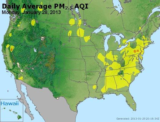 Peak Particles PM<sub>2.5</sub> (24-hour) - http://files.airnowtech.org/airnow/2013/20130128/peak_pm25_usa.jpg