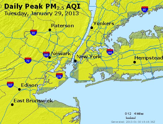 Peak Particles PM<sub>2.5</sub> (24-hour) - http://files.airnowtech.org/airnow/2013/20130129/peak_pm25_newyork_ny.jpg