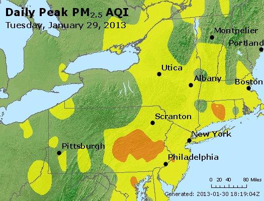 Peak Particles PM<sub>2.5</sub> (24-hour) - http://files.airnowtech.org/airnow/2013/20130129/peak_pm25_ny_pa_nj.jpg