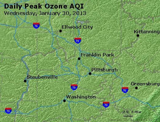 Peak Ozone (8-hour) - http://files.airnowtech.org/airnow/2013/20130130/peak_o3_pittsburgh_pa.jpg