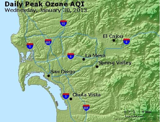Peak Ozone (8-hour) - http://files.airnowtech.org/airnow/2013/20130130/peak_o3_sandiego_ca.jpg