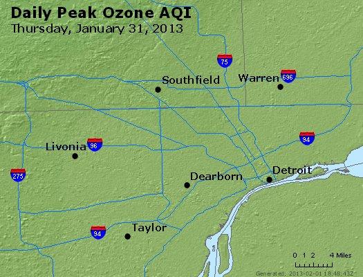 Peak Ozone (8-hour) - http://files.airnowtech.org/airnow/2013/20130131/peak_o3_detroit_mi.jpg