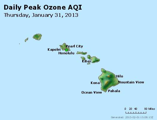 Peak Ozone (8-hour) - http://files.airnowtech.org/airnow/2013/20130131/peak_o3_hawaii.jpg
