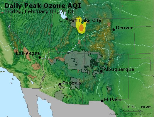 Peak Ozone (8-hour) - http://files.airnowtech.org/airnow/2013/20130201/peak_o3_co_ut_az_nm.jpg