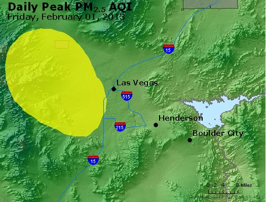 Peak Particles PM<sub>2.5</sub> (24-hour) - http://files.airnowtech.org/airnow/2013/20130201/peak_pm25_lasvegas_nv.jpg