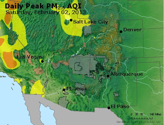 Peak Particles PM<sub>2.5</sub> (24-hour) - http://files.airnowtech.org/airnow/2013/20130202/peak_pm25_co_ut_az_nm.jpg