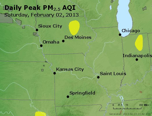 Peak Particles PM<sub>2.5</sub> (24-hour) - http://files.airnowtech.org/airnow/2013/20130202/peak_pm25_ia_il_mo.jpg