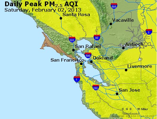 Peak Particles PM<sub>2.5</sub> (24-hour) - http://files.airnowtech.org/airnow/2013/20130202/peak_pm25_sanfrancisco_ca.jpg