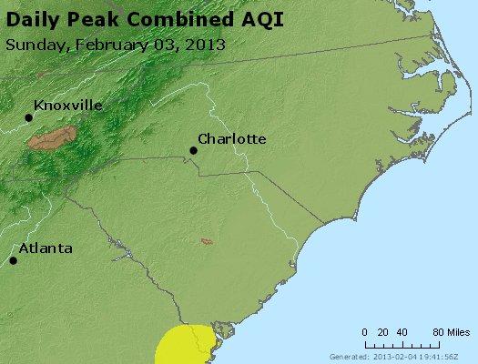 Peak AQI - http://files.airnowtech.org/airnow/2013/20130203/peak_aqi_nc_sc.jpg