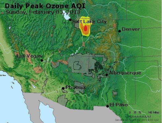 Peak Ozone (8-hour) - http://files.airnowtech.org/airnow/2013/20130203/peak_o3_co_ut_az_nm.jpg