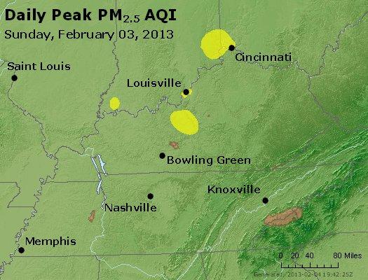 Peak Particles PM<sub>2.5</sub> (24-hour) - http://files.airnowtech.org/airnow/2013/20130203/peak_pm25_ky_tn.jpg