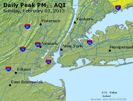 Peak Particles PM<sub>2.5</sub> (24-hour) - http://files.airnowtech.org/airnow/2013/20130203/peak_pm25_newyork_ny.jpg