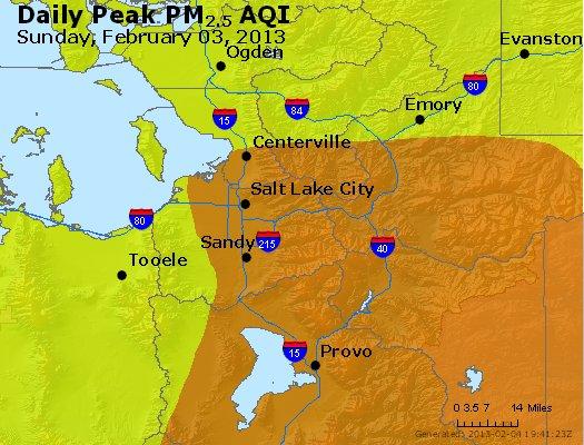 Peak Particles PM<sub>2.5</sub> (24-hour) - http://files.airnowtech.org/airnow/2013/20130203/peak_pm25_saltlakecity_ut.jpg