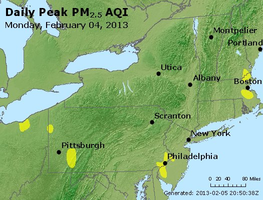 Peak Particles PM<sub>2.5</sub> (24-hour) - http://files.airnowtech.org/airnow/2013/20130204/peak_pm25_ny_pa_nj.jpg