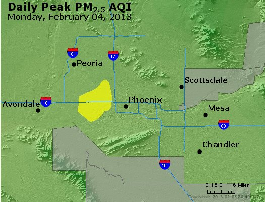Peak Particles PM<sub>2.5</sub> (24-hour) - http://files.airnowtech.org/airnow/2013/20130204/peak_pm25_phoenix_az.jpg
