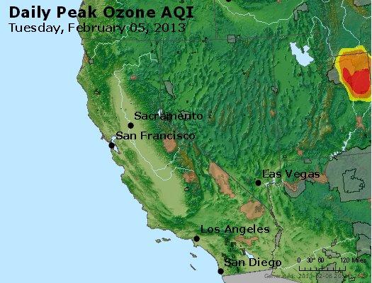 Peak Ozone (8-hour) - http://files.airnowtech.org/airnow/2013/20130205/peak_o3_ca_nv.jpg