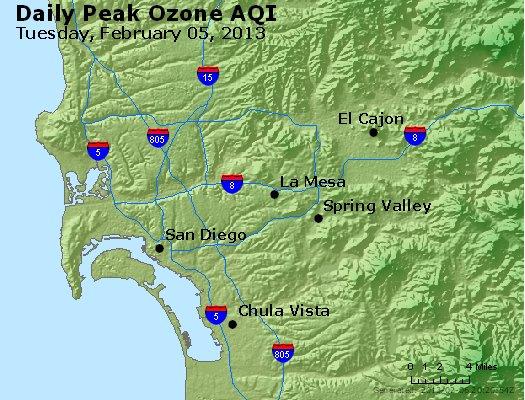 Peak Ozone (8-hour) - http://files.airnowtech.org/airnow/2013/20130205/peak_o3_sandiego_ca.jpg