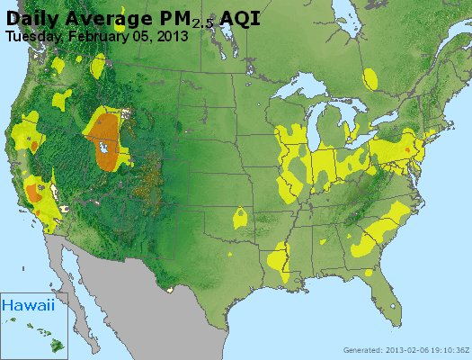 Peak Particles PM<sub>2.5</sub> (24-hour) - http://files.airnowtech.org/airnow/2013/20130205/peak_pm25_usa.jpg