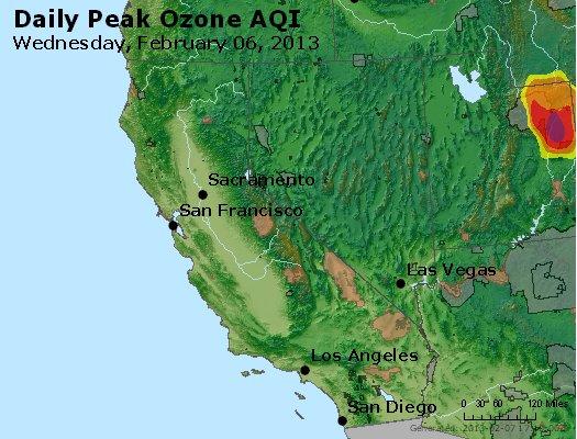 Peak Ozone (8-hour) - http://files.airnowtech.org/airnow/2013/20130206/peak_o3_ca_nv.jpg