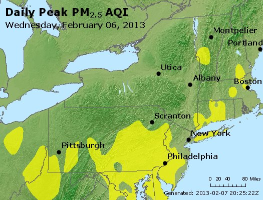 Peak Particles PM<sub>2.5</sub> (24-hour) - http://files.airnowtech.org/airnow/2013/20130206/peak_pm25_ny_pa_nj.jpg
