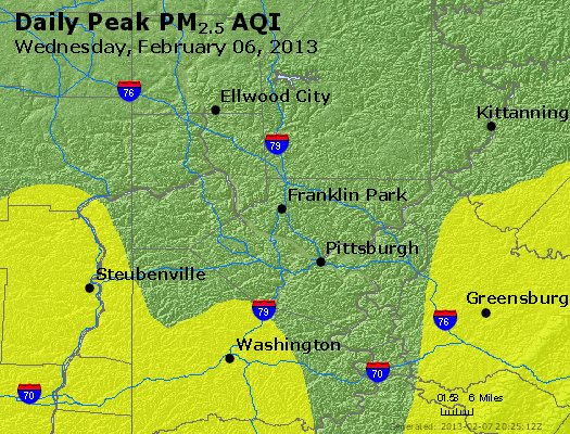 Peak Particles PM<sub>2.5</sub> (24-hour) - http://files.airnowtech.org/airnow/2013/20130206/peak_pm25_pittsburgh_pa.jpg
