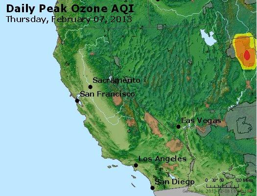 Peak Ozone (8-hour) - http://files.airnowtech.org/airnow/2013/20130207/peak_o3_ca_nv.jpg