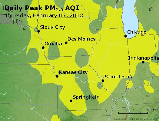 Peak Particles PM<sub>2.5</sub> (24-hour) - http://files.airnowtech.org/airnow/2013/20130207/peak_pm25_ia_il_mo.jpg
