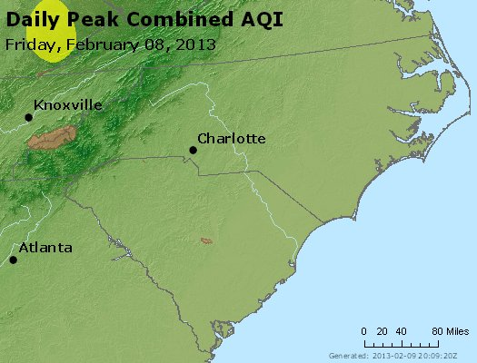 Peak AQI - http://files.airnowtech.org/airnow/2013/20130208/peak_aqi_nc_sc.jpg