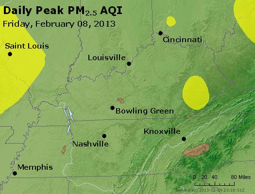 Peak Particles PM<sub>2.5</sub> (24-hour) - http://files.airnowtech.org/airnow/2013/20130208/peak_pm25_ky_tn.jpg