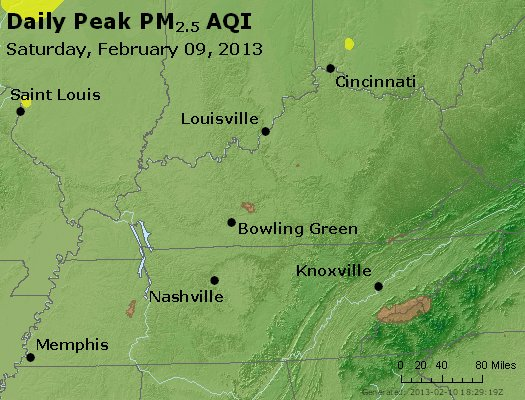 Peak Particles PM<sub>2.5</sub> (24-hour) - http://files.airnowtech.org/airnow/2013/20130209/peak_pm25_ky_tn.jpg