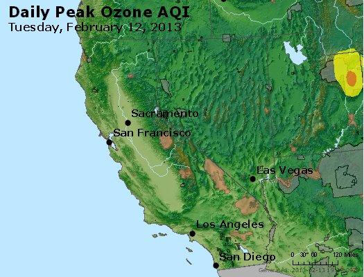 Peak Ozone (8-hour) - http://files.airnowtech.org/airnow/2013/20130212/peak_o3_ca_nv.jpg