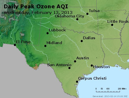 Peak Ozone (8-hour) - http://files.airnowtech.org/airnow/2013/20130213/peak_o3_tx_ok.jpg