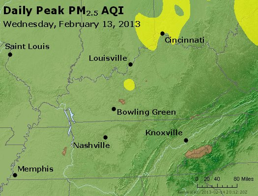 Peak Particles PM<sub>2.5</sub> (24-hour) - http://files.airnowtech.org/airnow/2013/20130213/peak_pm25_ky_tn.jpg