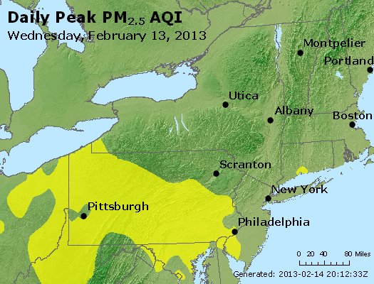 Peak Particles PM<sub>2.5</sub> (24-hour) - http://files.airnowtech.org/airnow/2013/20130213/peak_pm25_ny_pa_nj.jpg